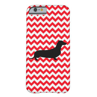 Fire Truck Red Chevron With Dachshund Barely There iPhone 6 Case
