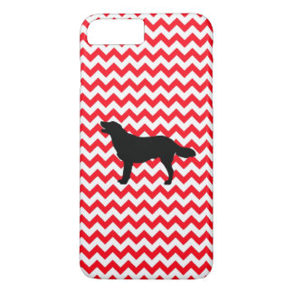 Fire Truck Red Chevron With Golden Silhouette iPhone 7 Plus Case