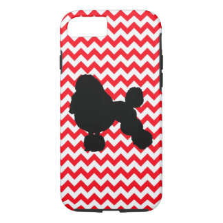 Fire Truck Red Chevron With Poodle iPhone 7 Case