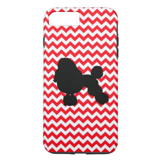 Fire Truck Red Chevron With Poodle iPhone 7 Plus Case