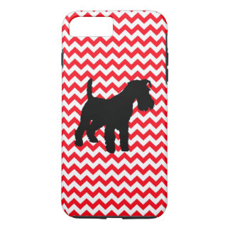 Fire Truck Red Chevron With Schnauzer iPhone 7 Plus Case