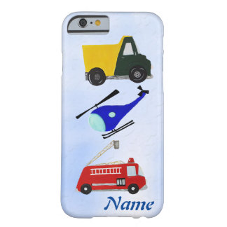 Fire truck, sand truck and helicopter barely there iPhone 6 case