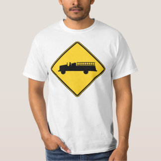 Fire Truck Sign T-Shirt