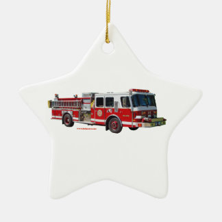 Fire_Truck_texturizer Christmas Ornament