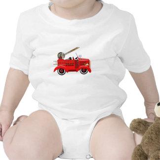 Fire Truck Baby Bodysuits