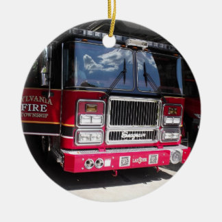 fire truck two sided ornament