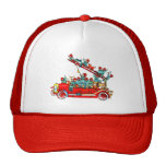 Fire Truck with Kids Cap