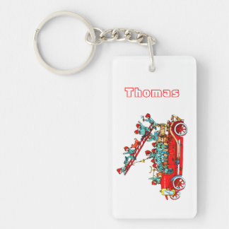 Fire Truck with Kids Keychain