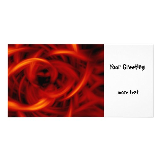 Fire Tunnel Photo Greeting Card