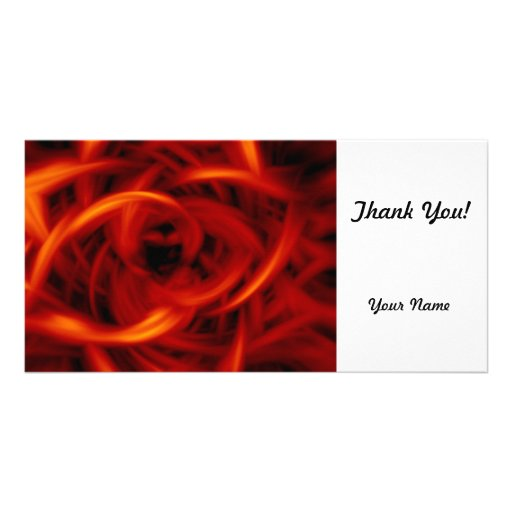 Fire Tunnel Personalized Photo Card