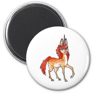 Fire Unicorn 6 Cm Round Magnet