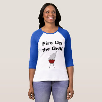 """Fire Up the Grill"" Labor Day Shirt"