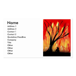 Fire v2 Spray Painting Figure Under Burnt Tree Pack Of Standard Business Cards