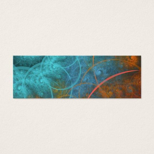 """Fire VS Ice"" Fractal Art Mini Business Card"