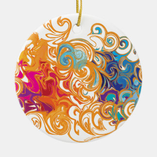 Fire &Water Chariot colourful contemporary drawing Christmas Ornament