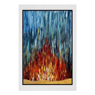 Fire Water Gold Poster