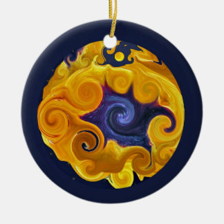 Fire & Water Sphere Abstract Ornament