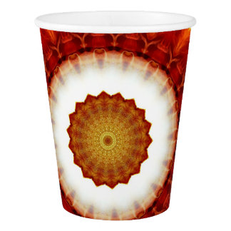 Fire Waves Paper Cup
