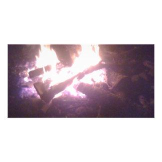 Fire wear personalized photo card