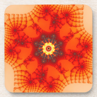 Fire Web - Fractal Art Coaster