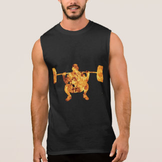 Fire Weight Lifting GYM Dark T-shirt