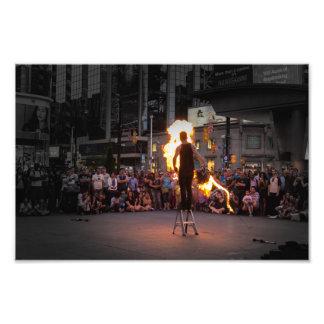 Fire-Whipping Busker Photo Art