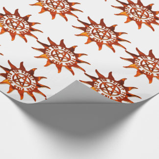 Fire Wicca Sun & Pentacle Wrapping Paper