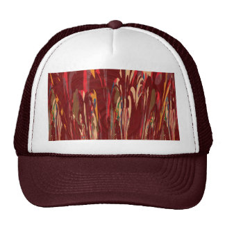 Fire within us SPIRITUAL rising waves abstract FUN Mesh Hats