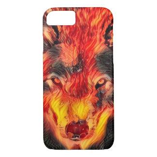 Fire Wolf Djinn Fantasy Art Apple iPhone 7 Case