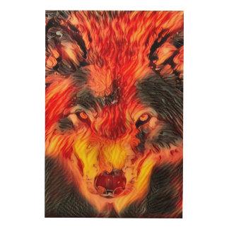 Fire Wolf Djinn Fantasy Wildlife Art