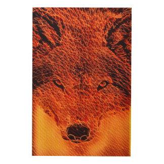 Fire Wolf Fractal Art