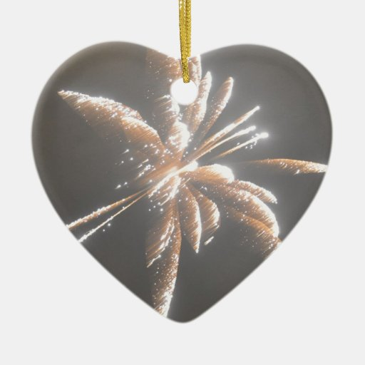 fire work christmas tree ornament