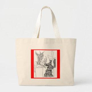 fire writer jumbo tote bag