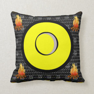 fire yellow decorative throw pillow