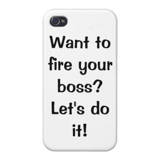 Fire your boss iPhone Case for Network Marketers iPhone 4/4S Cover