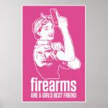 Firearms Are A Girls Best Friend Print