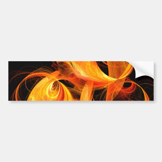 Fireball Abstract Art Bumper Sticker