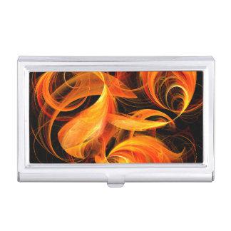 Fireball Abstract Art Business Card Holder