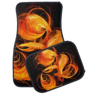 Fireball Abstract Art Car Mat