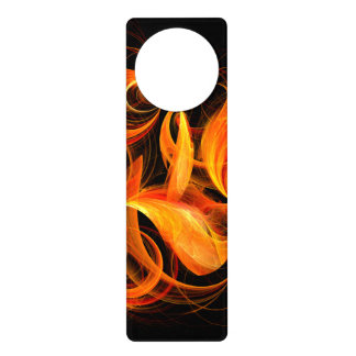 Fireball Abstract Art Door Hanger