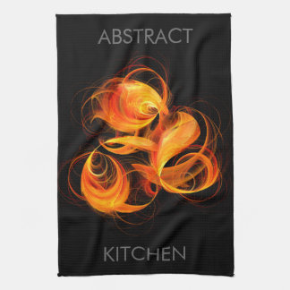 Fireball Abstract Art Kitchen Towel