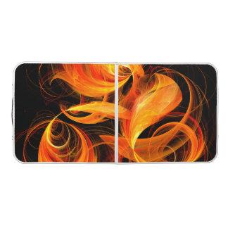 Fireball Abstract Art Pong Table