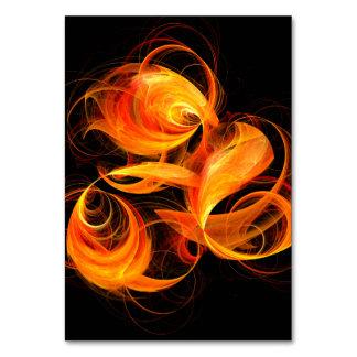 Fireball Abstract Art Table Card