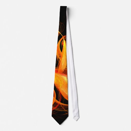 Fireball Abstract Art Tie