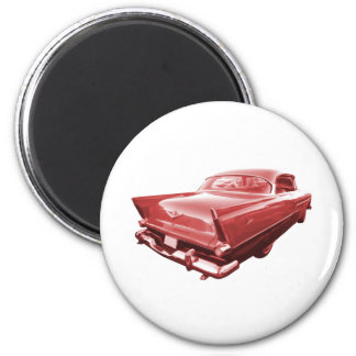 Fireball fury 1956 Plymouth tail fins 6 Cm Round Magnet