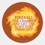 Fireball the Chamber Round Sticker