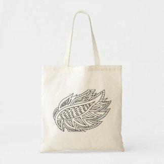 Firebird Coloring DIY Doodle Tote Bag