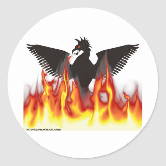 FireBird / Phoenix Round Sticker