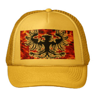 Firebird with Fire Background Base... - Customized Cap