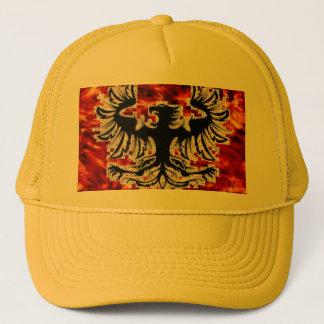 Firebird with Fire Background Base... - Customized Trucker Hat